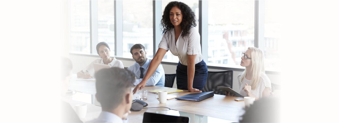 woman facilitating a meeting